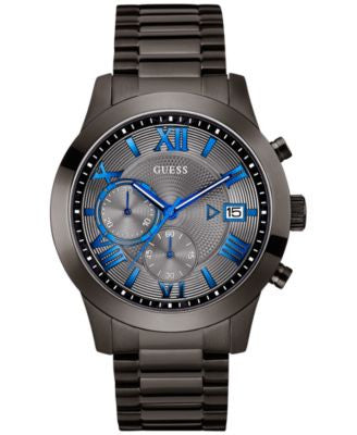 GUESS Men's Gunmetal Stainless Steel Bracelet Watch 45mm U0668G2