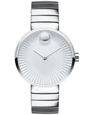 Movado Women's Swiss Edge Stainless Steel Bracelet Watch 34mm 3680012