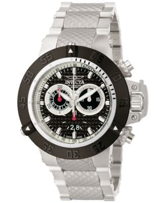 Invicta Men's Chronograph Subaqua Noma III Stainless Steel Bracelet Watch 50mm 10191