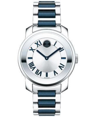 Movado Women's Swiss Bold Luxe Blue Ion-Plated and Stainless Steel Bracelet Watch 32mm 3600354