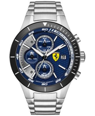Scuderia Ferrari Men's Chronograph RedRev Evo Stainless Steel Bracelet Watch 46mm 0830270