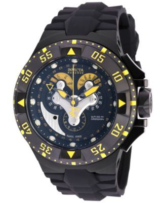 Invicta Men's Chronograph Reserve Excursion Black Polyurethane Strap Watch 50mm 18556