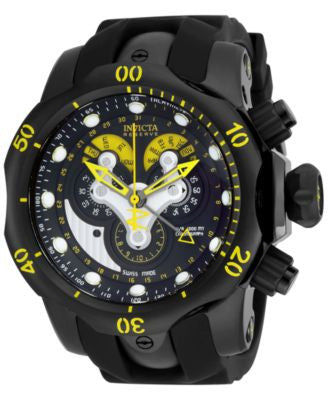 Invicta Men's Chronograph Reserve Venom Black Polyurethane Strap Watch 54mm 14459