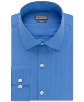 Kenneth Cole Reaction Slim-Fit Dry-Tek Performance Tonal Stripe Dress Shirt