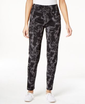 Style & Co. Marble-Print Tummy Control Pants, Only at Vogily