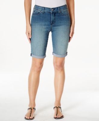 NYDJ Briella Denim Cuffed Bermuda Karval Wash Shorts