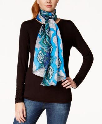 Vince Camuto Luxe Paisley Silk Scarf
