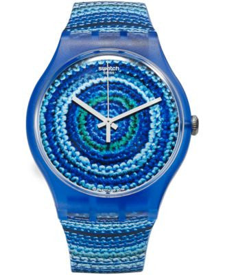 Swatch Unisex Swiss CENTRINO Multi-Color Silicone Strap Watch 41mm SUOS104