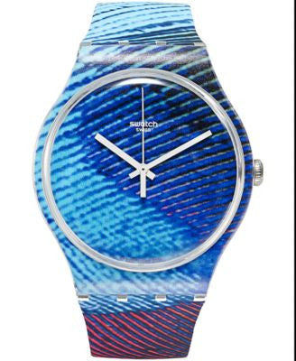 Swatch Unisex Swiss PEACOBELLO Multi-Color Silicone Strap Watch 41mm SUOK113