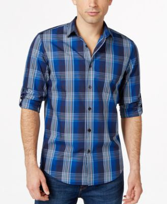 Alfani Big and Tall Medium Plaid Shirt, Only at Vogily