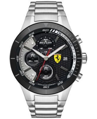 Scuderia Ferrari Men's Chronograph RedRev Evo Stainless Steel Bracelet Watch 46mm 0830263