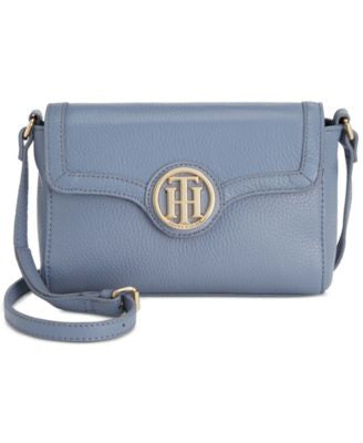 Tommy Hilfiger Maggie Pebble Leather Flap Crossbody