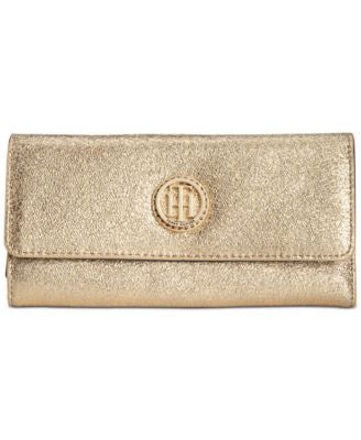 Tommy Hilfiger Crackle Leather Large Flap Wallet