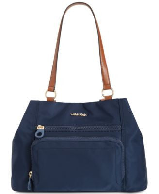 Calvin Klein Nylon Zipper Satchel