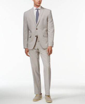 Bar III Blue Vintage Seersucker Slim-Fit Suit Separates, Only at Vogily