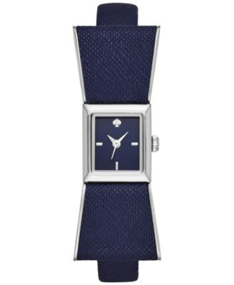 kate spade new york Women's Kenmare Navy Leather Strap Watch 15mm KSW1029