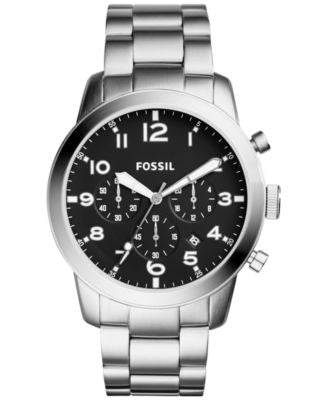 Fossil Men's Chronograph 54-Pilot Stainless Steel Bracelet Watch 44mm fs5141