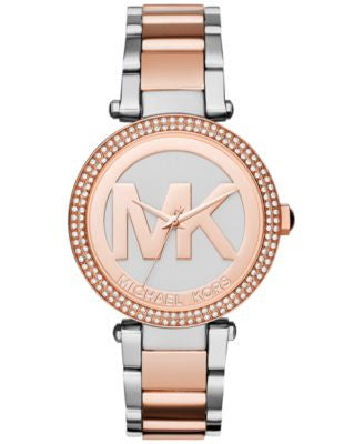 Michael Kors Women's Parker Two-Tone Stainless Steel Bracelet Watch 39mm MK6314
