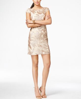 Adrianna Papell Sequin-Detail Sheath Dress