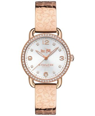 COACH WOMEN'S DELANCEY ROSE GOLD-TONE STAINLESS STEEL BRACELET WATCH 28MM 14502355