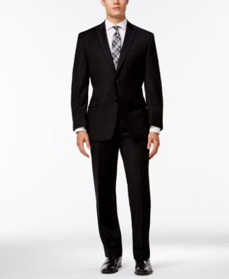 Calvin Klein Black Peak Lapel Slim-Fit Tuxedo Suit Separates