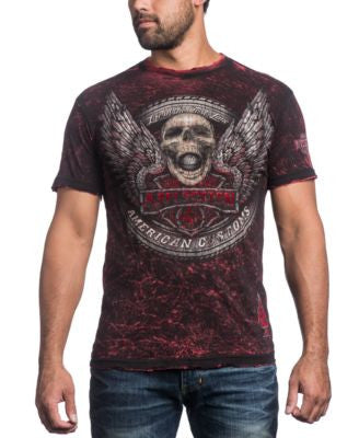 Affliction Men's Reversible Eight Ball T-Shirt