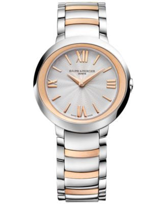 Baume & Mercier Women's Swiss Promesse Stainless Steel & 18k Rose Gold-Plated Bracelet Watch 30mm M0