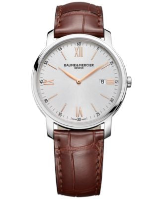 Baume & Mercier Men's Swiss Classima Brown Leather Strap Watch 42mm M0A10144