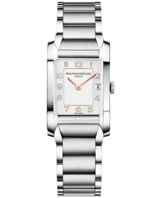 Baume & Mercier Women's Swiss Hampton Stainless Steel Bracelet Watch 35x22mm M0A10049