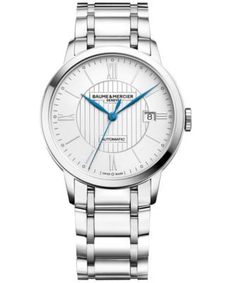 Baume & Mercier Men's Swiss Automatic Classima Stainless Steel Bracelet Watch 40mm M0A10215