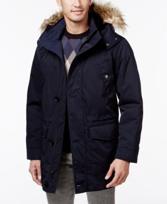 Ryan Seacrest Distinction Luxe Twill Faux-Fur trimmed Parka
