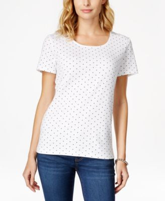 Karen Scott Polka-Dot T-Shirt, Only at Vogily