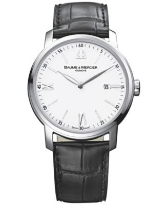 Baume & Mercier Men's Swiss Classima Black Leather Strap Watch 42mm M0A08485