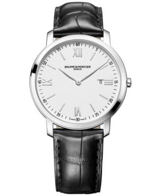 Baume & Mercier Men's Swiss Classima Black Leather Strap Watch 42mm M0A10097