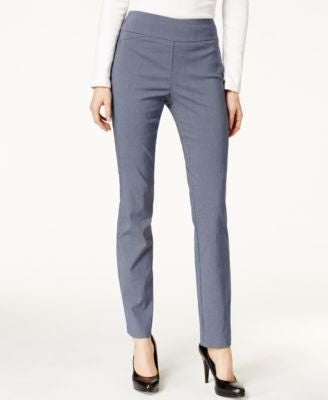 Charter Club Petite Mini-Check Print Straight-Leg Trousers, Only at Vogily