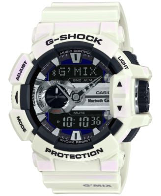 G-Shock Men's Analog-Digital G'Mix White Bracelet Watch 55x51mm GBA400-7C