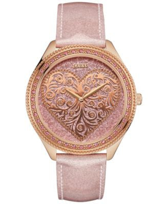 GUESS Women's Rose Leather Strap Watch 44mm U0697L3