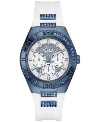 GUESS Women's White Silicone Strap Watch 40mm U0653L2