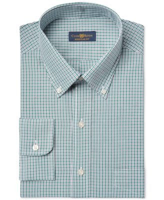 Club Room Estate Wrinkle Resistant Small Grid Check Dress Shirt, Only at Vogily