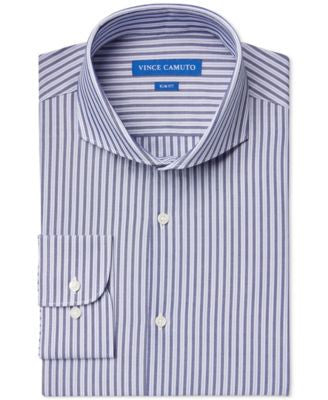 Vince Camuto Slim-Fit Cobalt Stripe Dress Shirt