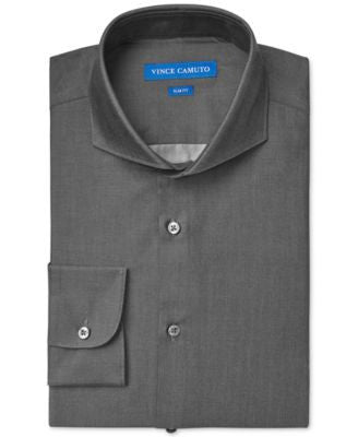 Vince Camuto Slim-Fit Denim Solid Dress Shirt