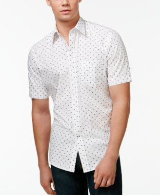 Club Room Wheel-Print Short-Sleeve Shirt