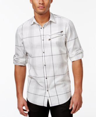 INC International Concepts Men's Kenny Classic-Fit Plaid Shirt, Only at Vogily
