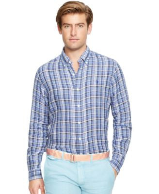 Polo Ralph Lauren Men's Plaid Linen Shirt