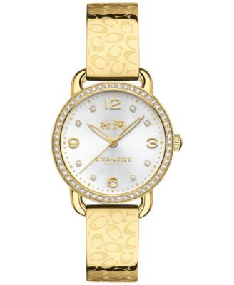 COACH WOMEN'S DELANCEY GOLD-TONE STAINLESS STEEL BRACELET WATCH 28MM 14502354