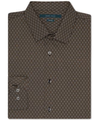 Perry Ellis Geometric Print Button-Front Shirt