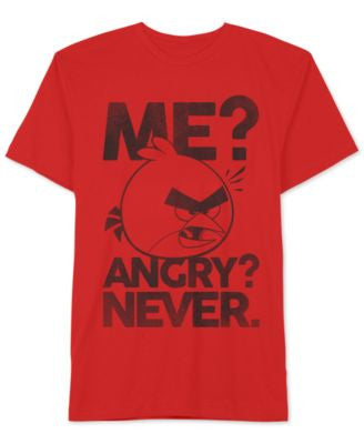 Jem Men's Angry Birds Never Angry Tee
