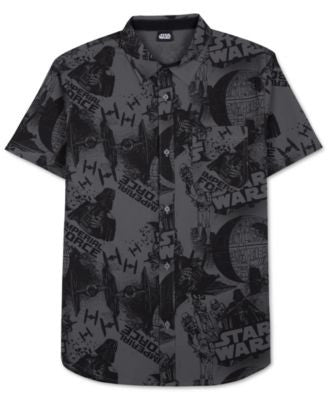 Men's Star Wars Imperial Force Print Short-Sleeve Shirt