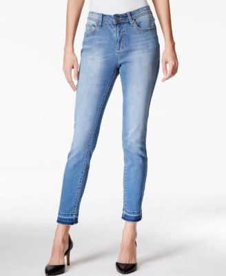 Earl Jeans Released-Hem Ankle Skinny Medium Blue Wash Jeans
