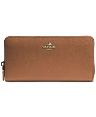 COACH ACCORDION ZIP WALLET IN EMBOSSED TEXTURED LEATHER
